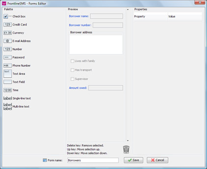 FrontlineSMS Forms Editor