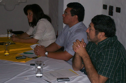 Mobile/SMS training with partners and staff (photo courtesy Winrock International)