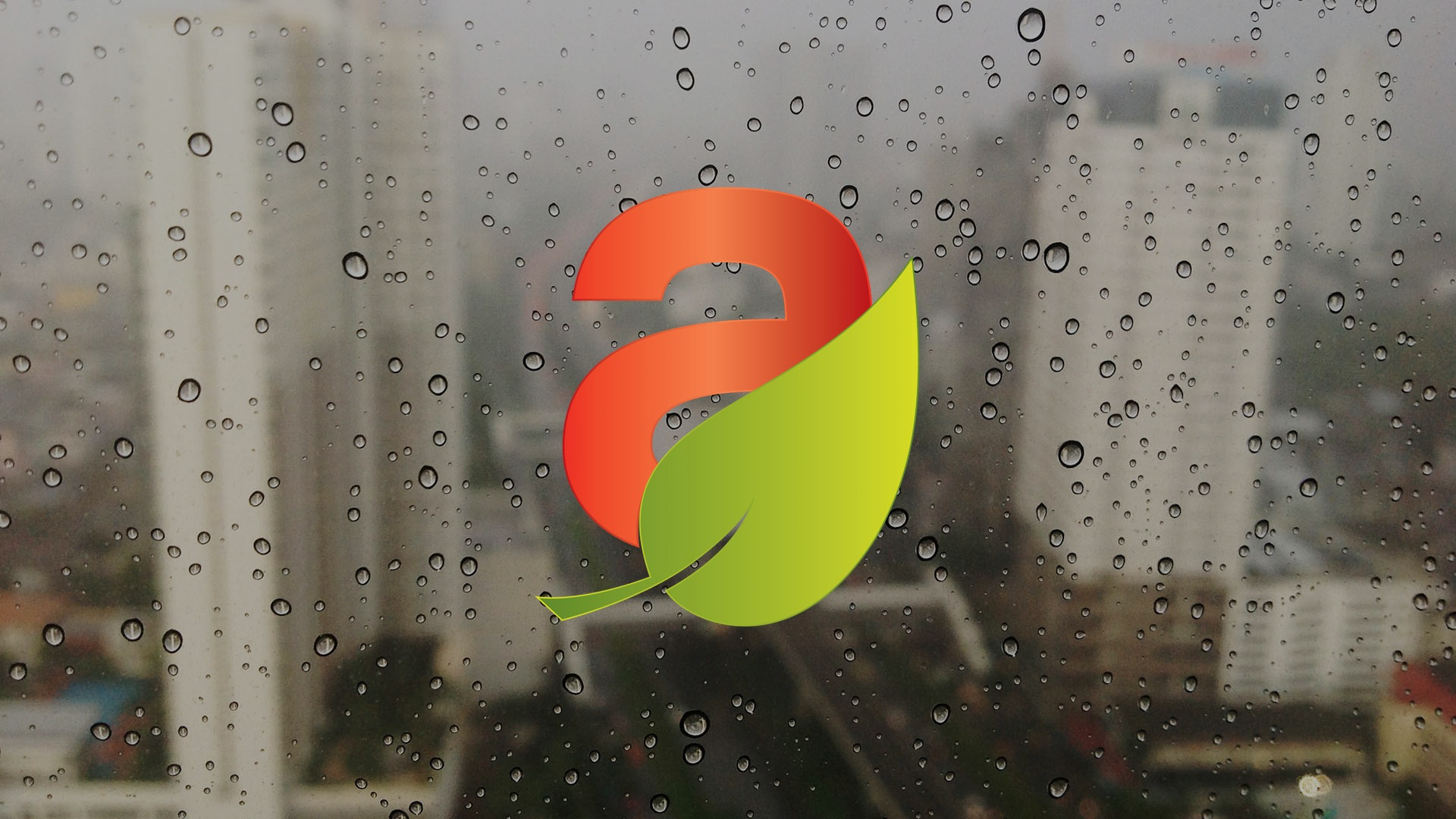 altruly Icon on Wet Window